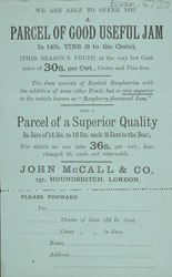 Advert For John McCall's Jam